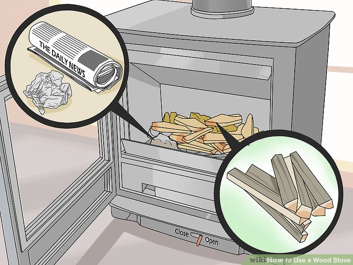 How To Use A Wood Stove 15 Steps With Pictures Wikihow