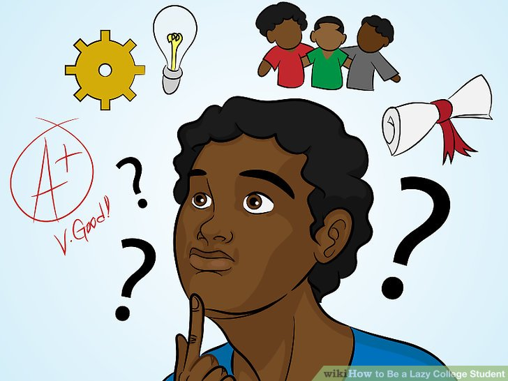 3 Ways to Be a Lazy College Student - wikiHow