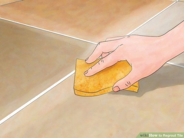 How to Regrout Tile  13 Steps  with Pictures    wikiHow Image titled Install Marble Floor Tile Step 23
