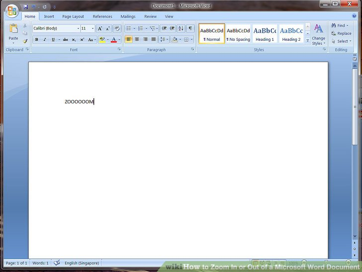 How to Zoom In or Out of a Microsoft Word Document  4 Steps Image titled Zoom In or Out of a Microsoft Word Document Step 1