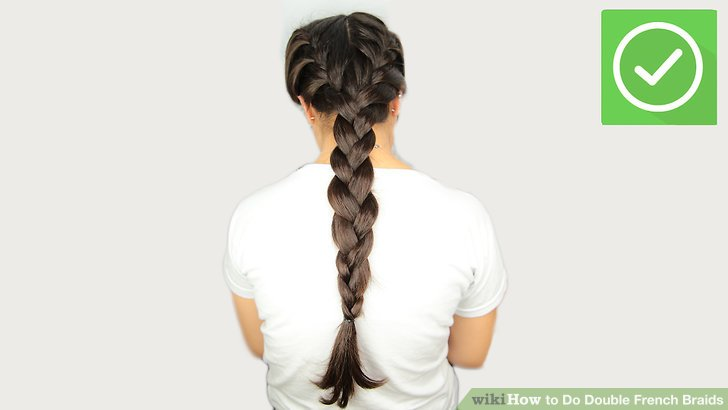 2 Simple Ways to Do Double French Braids   wikiHow Image titled Do Double French Braids Step 17