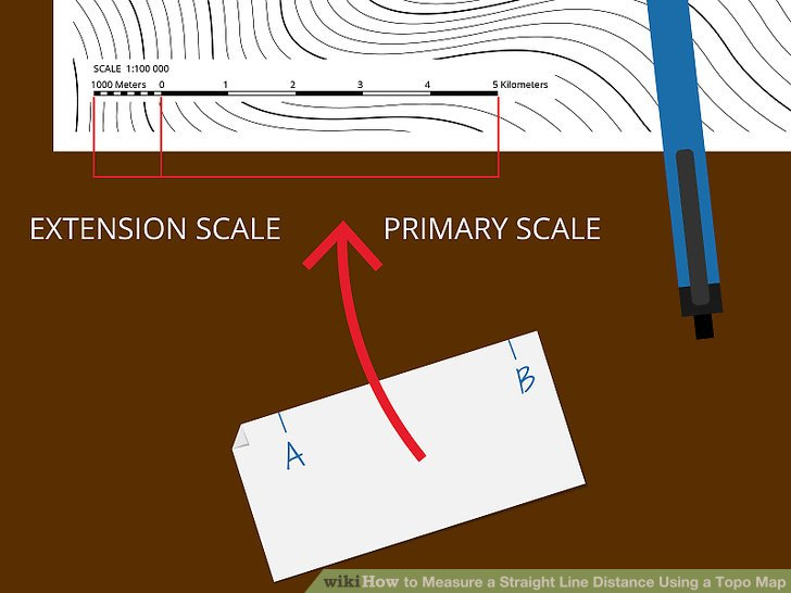 3 Ways to Measure a Straight Line Distance Using a Topo Map Image titled Measure a Straight Line Distance Using a Topo Map Step 2