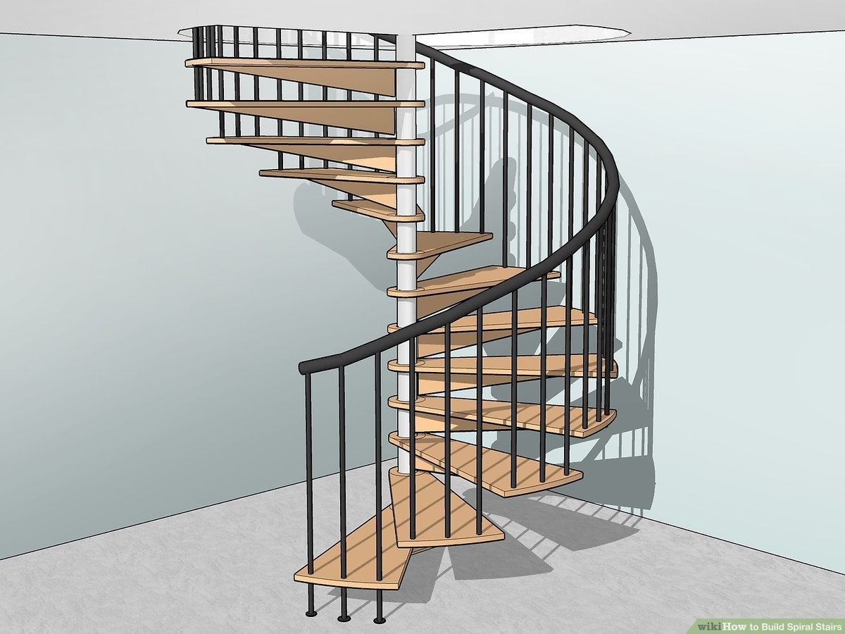 How To Build Spiral Stairs 15 Steps With Pictures Wikihow | Metal Spiral Staircase Cost | Iron | Deck | Stainless Steel | Stair Parts | Staircase Kits