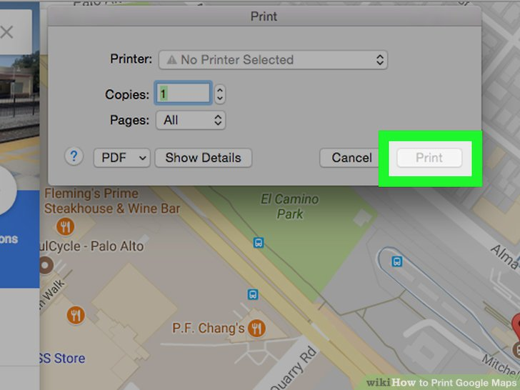 4 Easy Ways to Print Google Maps  with Pictures    wikiHow Image titled Print Google Maps Step 8