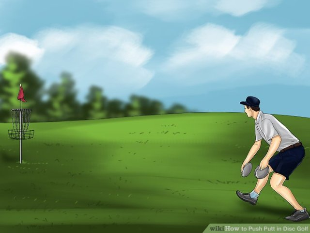 How to Push Putt in Disc Golf  with Pictures    wikiHow Image titled Push Putt in Disc Golf Step 1