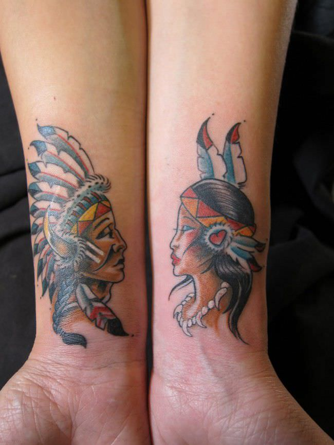 250 Lovely Matching Tattoos For Couples - Wild Tattoo Art