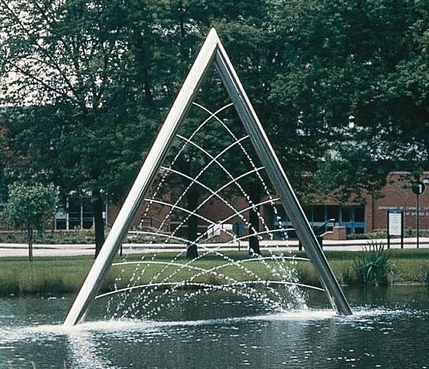 Aston Triangle Work William Pye Water Sculpture
