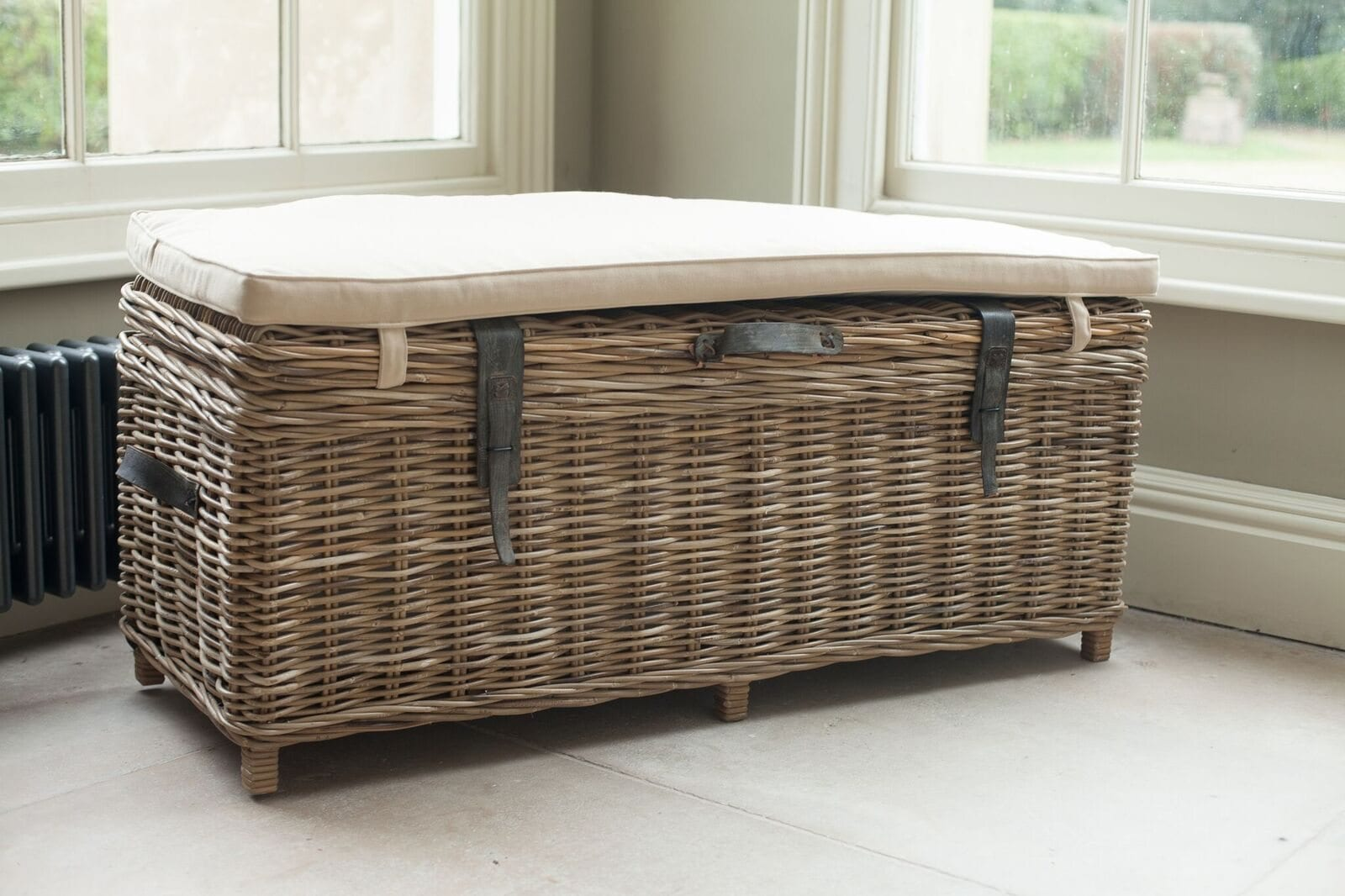 Rattan Storage Bench Willow Lifestyle