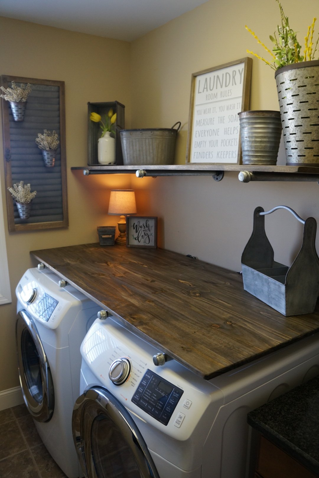 Best Kitchen Gallery: Laundry Room Makevover For Under 250 With Diy Rustic Industrial of Laundry Room Shelving  on rachelxblog.com