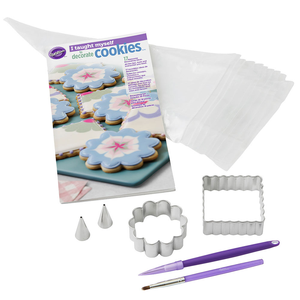 I Taught Myself Cookie Decorating Book Set   Wilton I Taught Myself to Decorate Cookies