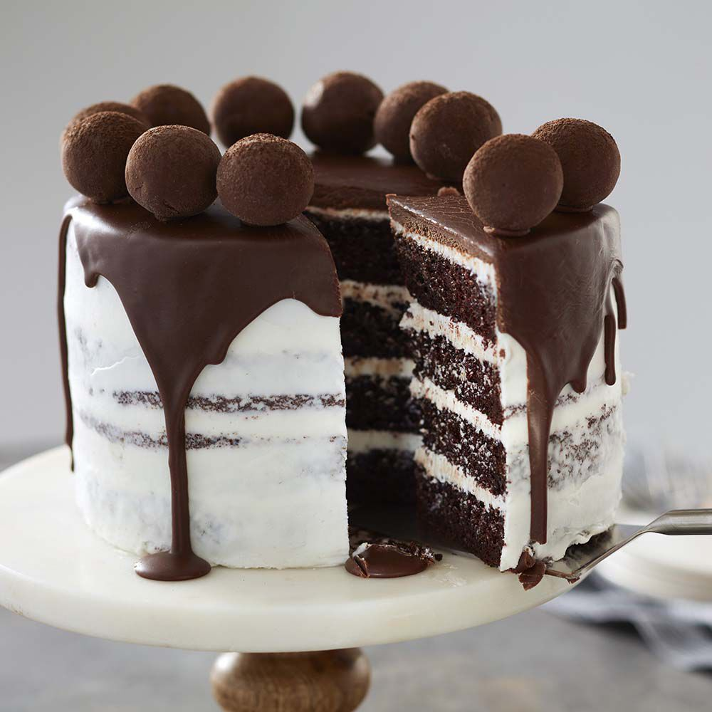Truffle Topped Chocolate Cake Recipe Wilton