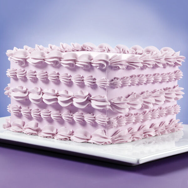 Surrounded By Shells Square Cake Wilton