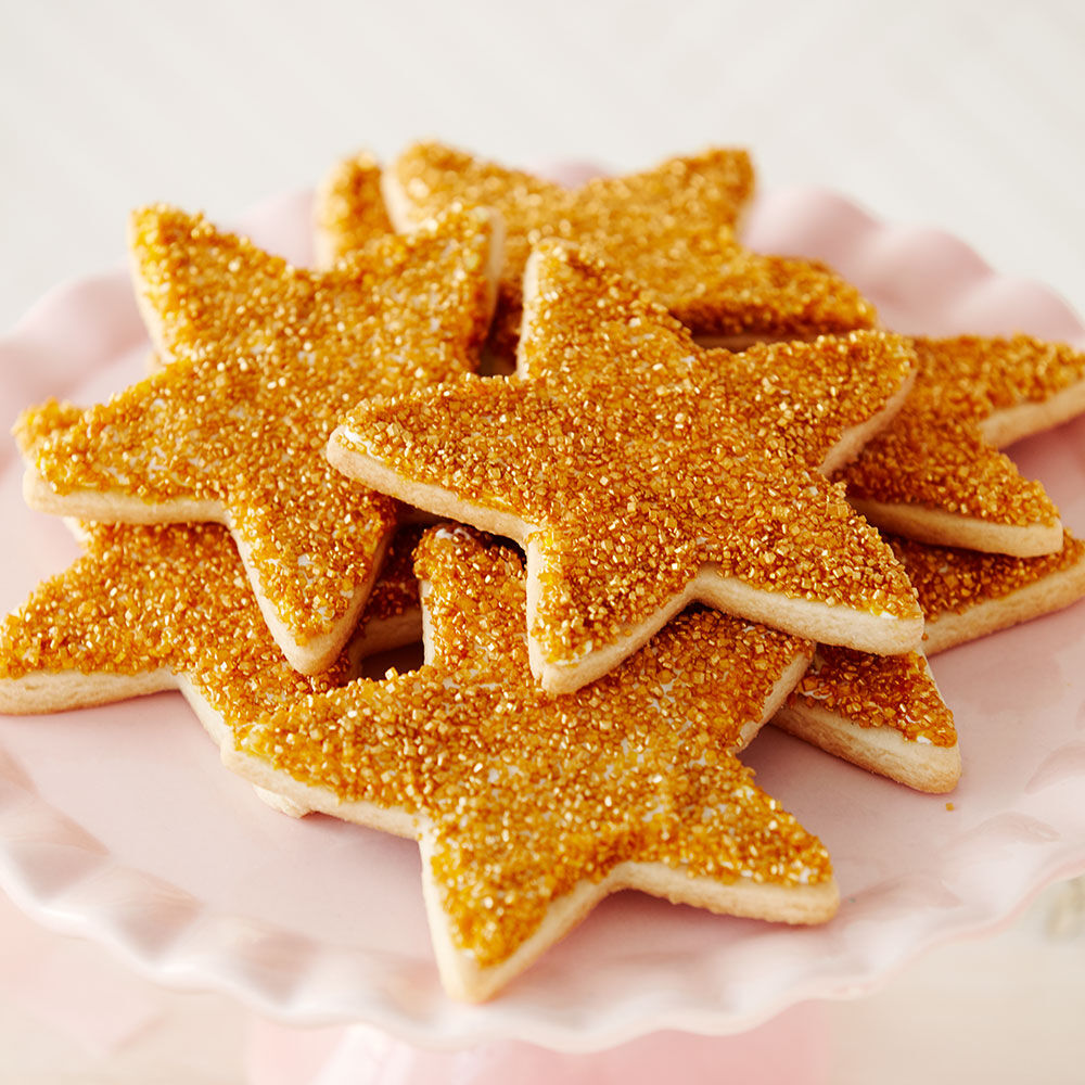 Cookie Decorating Ideas   Cookie Ideas   Wilton Sparkling Star Cookies