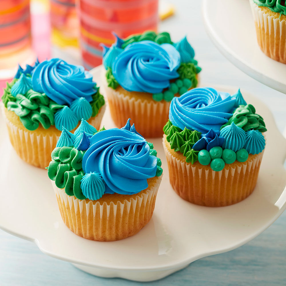 Cupcake Ideas   Cupcake Decorating Ideas   Wilton Happy Earth Day Cupcakes
