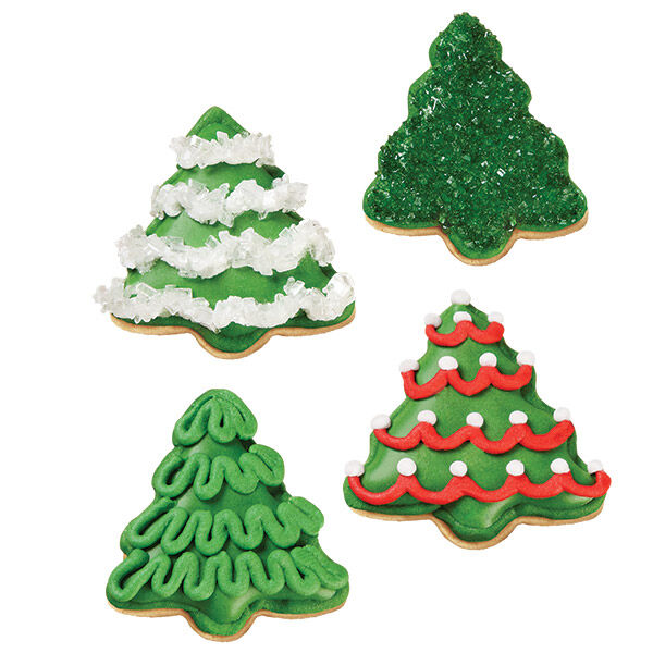 A Grove of Christmas Tree Cookies   Wilton