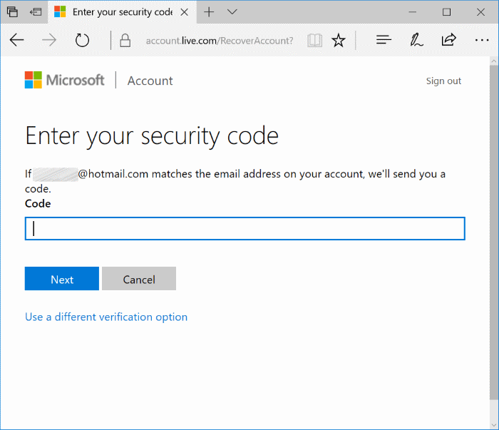 reopen closed Microsoft Account Image