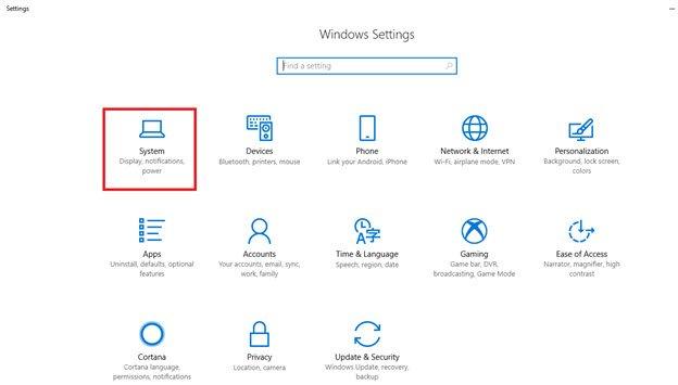 Tablet mode in Windows 10