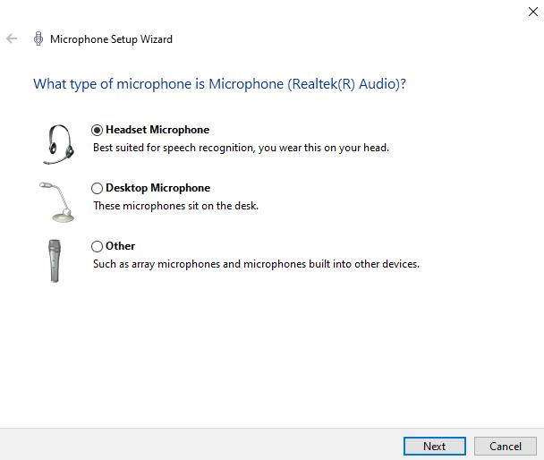 set up an external mic in windows 10