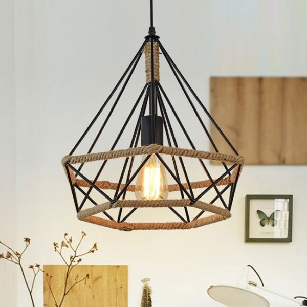 pendant lighting with rope # 31