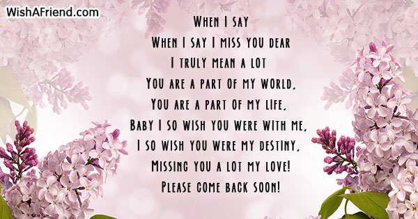 I Miss You Poems Friend