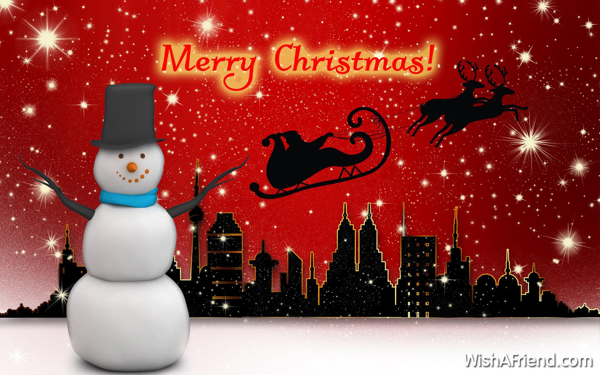 Christmas Snowman Wallpapers