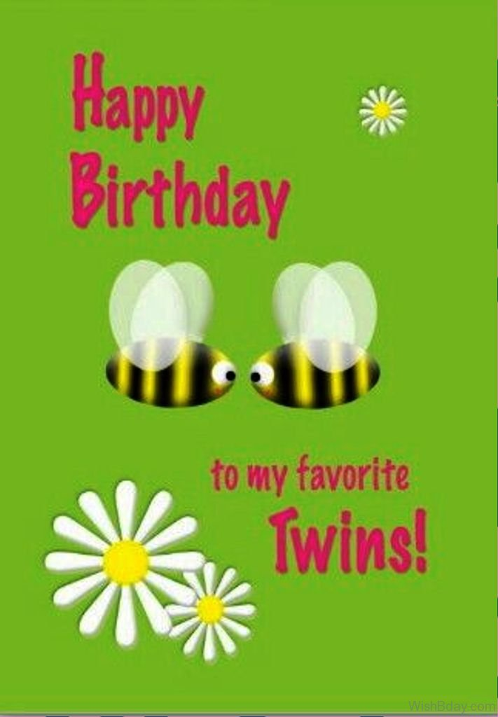 Twin Birthday Wishes Brother