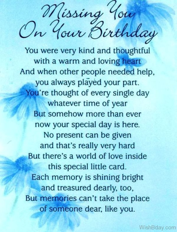 Dad Heaven Wishes Birthday Poems