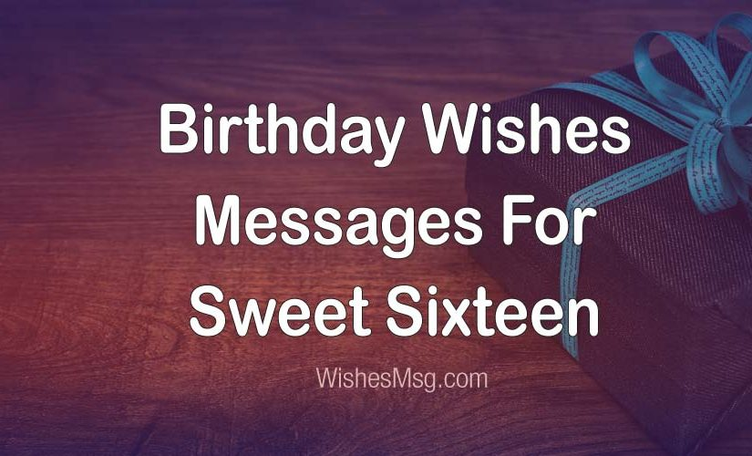 Sweet 16 Birthday Wishes Girl
