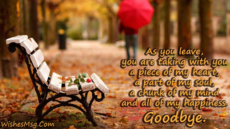 Goodbye Messages For Boyfriend - Sad Goodbye Quotes ...