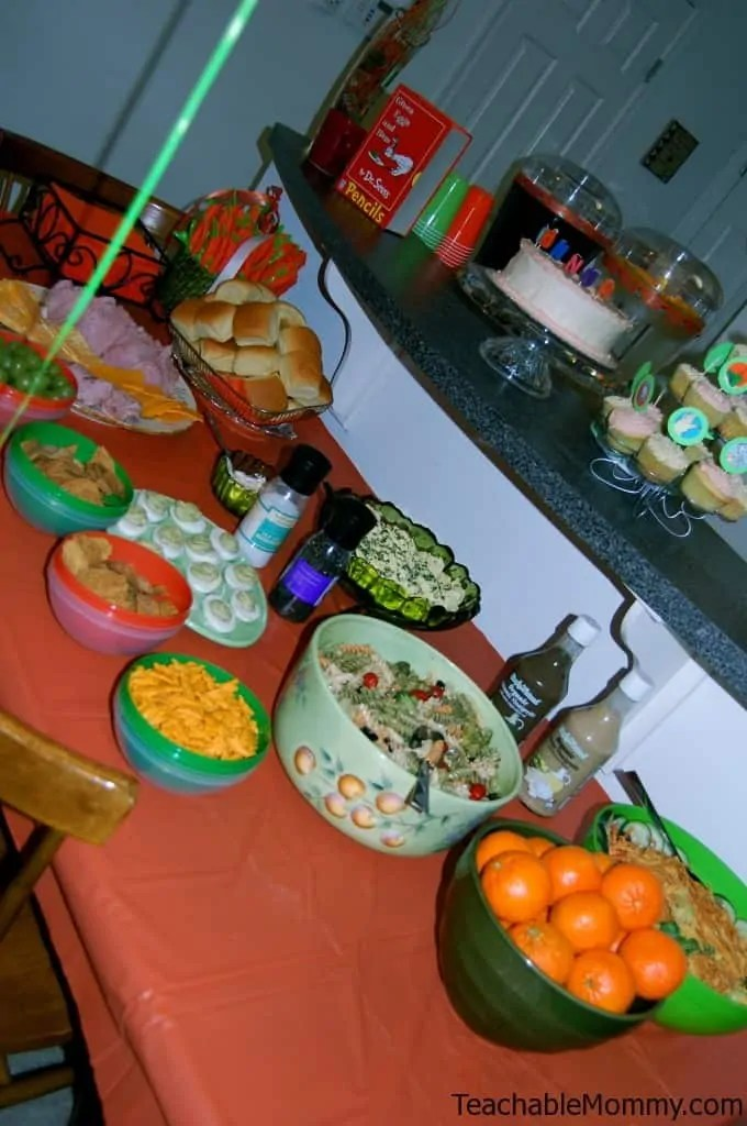 Green Eggs And Ham Birthday Party Food And Games With