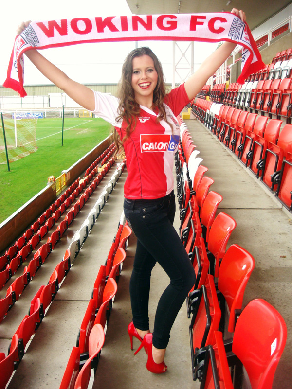 Woking Football Club News Cards Fan Ellie Has A Miss
