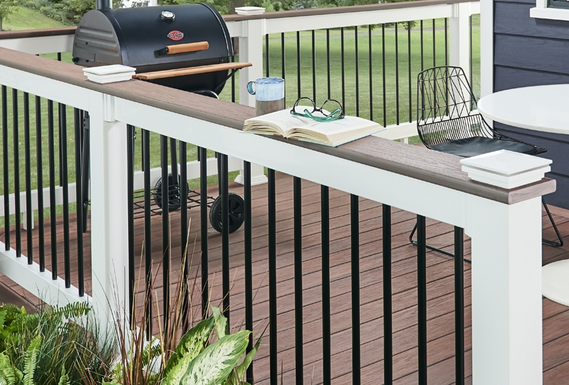 Composite Pvc Railing Systems Wolf Home Products | Vinyl Railings For Outside Steps | Balusters | Composite | Wood | Precast Concrete Steps | Railing Installation