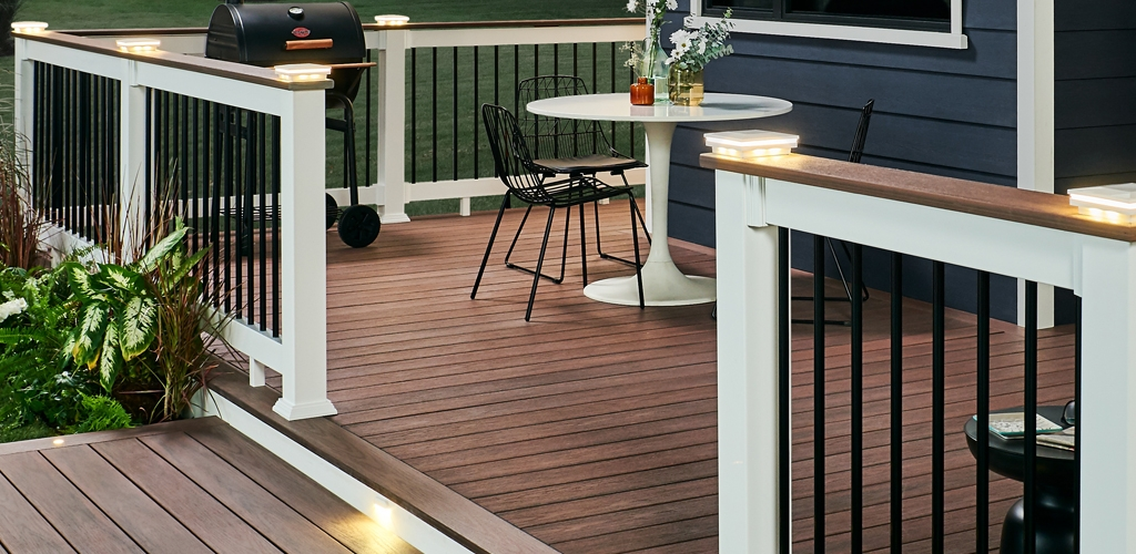 Wolf Deck Porch Railing Systems Wolf Home Products | White Railing Black Spindles | Paint | Wrought Iron | Porch Railing | Iron Balusters | Aluminum Balusters