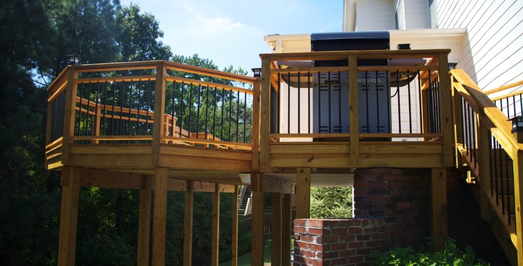 Building A Deck With Treated Wood – The Ultimate Guide Lonza | Pressure Treated Deck Handrail | Real Wood | Light Color | Deck Board | Southern Yellow Pine | Decking