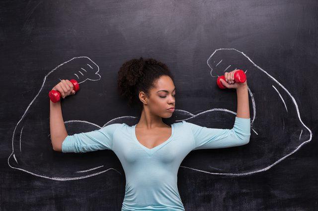The Dumbbell Floor Press Women Fitness