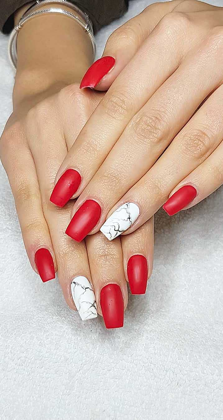 24 Matte Red Nails Ideas Successful Acrylic And Coffin Designs Page 14 Of 24 Women World Blog