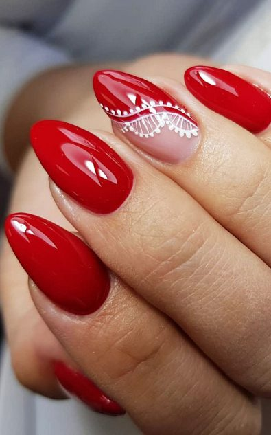 red-acrylic-nail-designs-in-polished-and-matte-shades