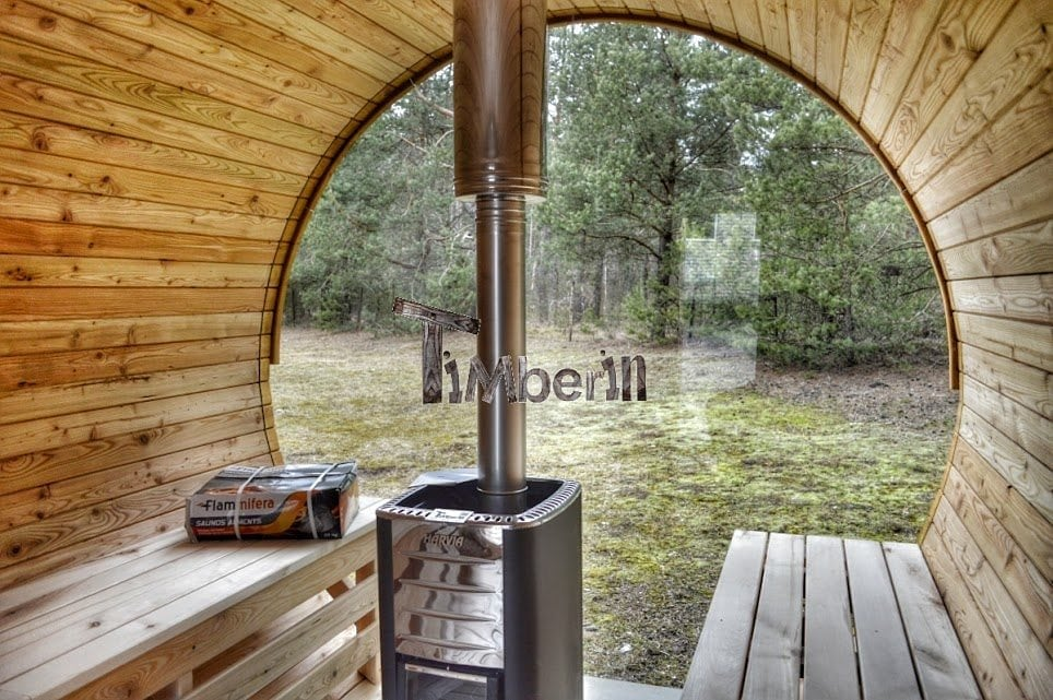 Round Barrel Wooden Garden Sauna For Sale Timberin