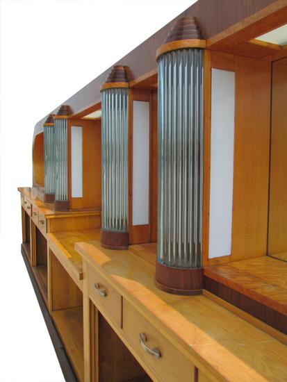 22 Art Deco Back Bar Wooden Nickel Antiques