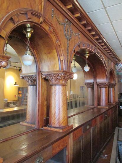 Brunswick Mahogany 20 Triple Arch Front And Back Bar