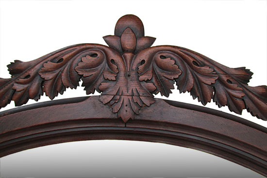 Ornate Carved Hall Tree Bench Wooden Nickel Antiques