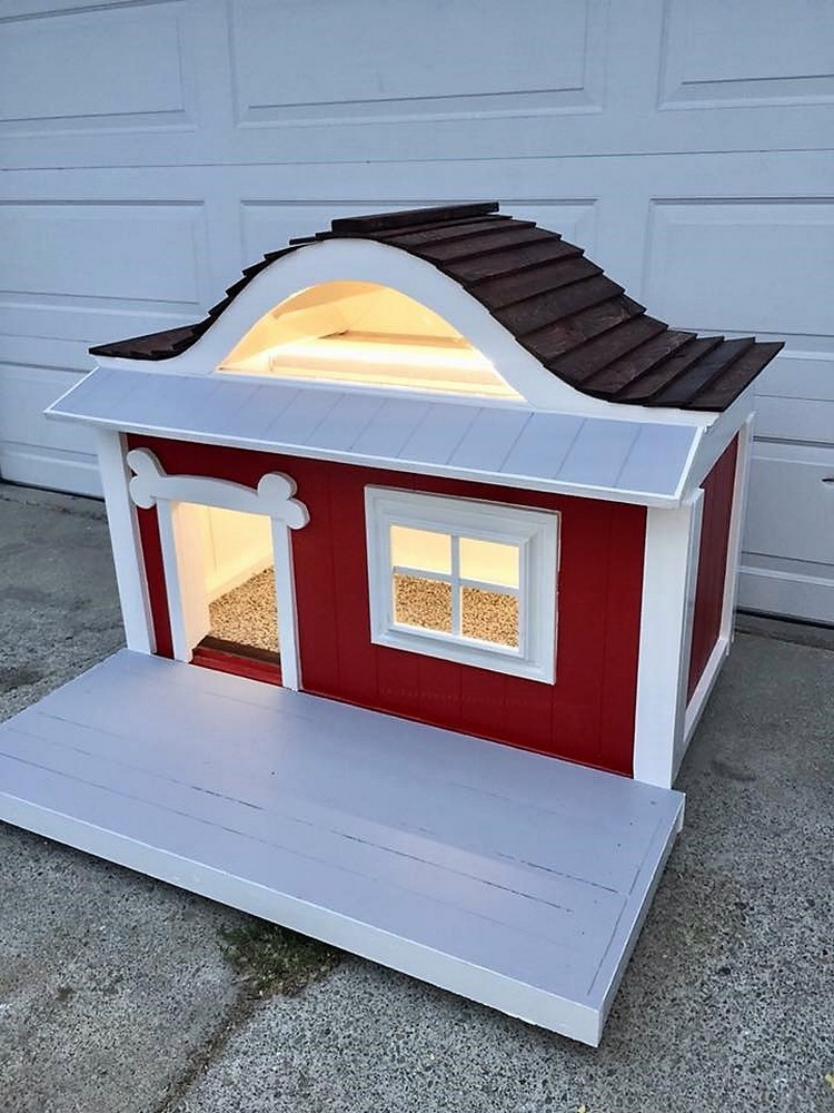 Dog House Made Out Of Recycled Wood Pallets Wooden