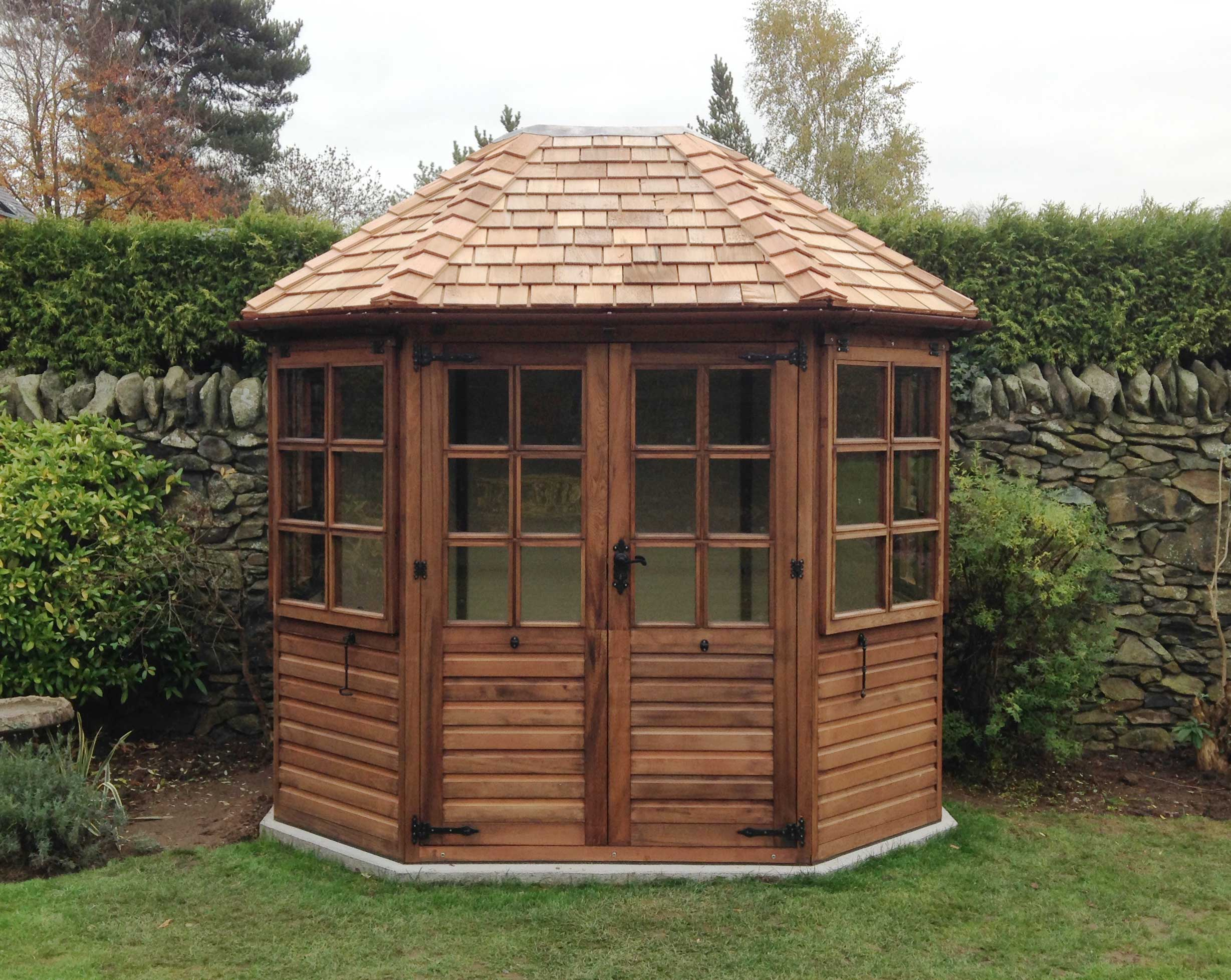 Traditional Wooden Cedar Summerhouse