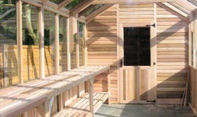 Inside A Wood Frame Greenhouse | Wooden Thing