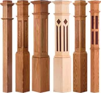 Newel Posts By Wood Stairs Best Prices On Turned Box Newel Posts | Newel Post Cap Designs | White Oak | Decorative | Strong | Porch | Diy