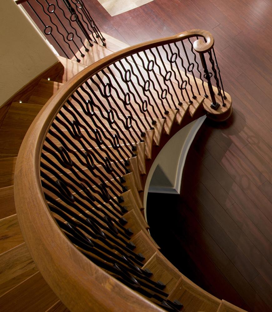 6701b Bending Handrail Wood Stair Hand Rail Lj 6701b Profile