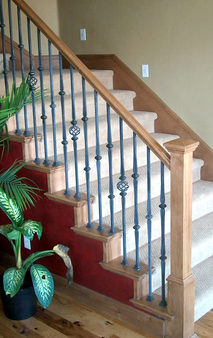 Stair Remodeling Wood Stairs | Wrought Iron Stair Railing Cost | Spiral Staircase | Traditional | Background | Raw Iron | Rot Iron