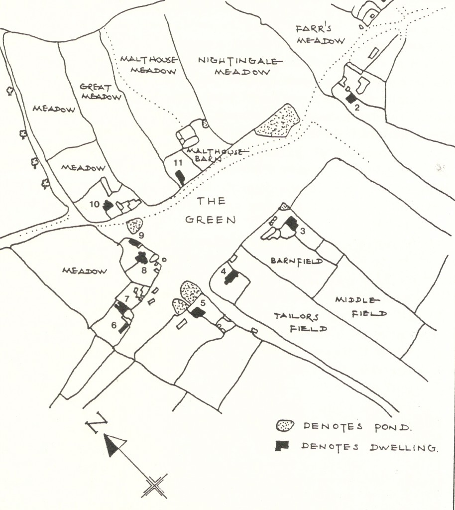 Map of wood street green in 1841