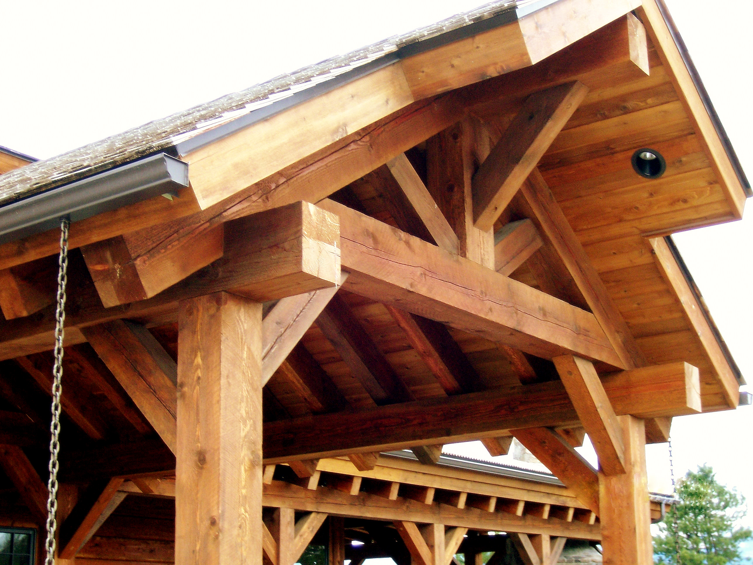 Porch Frame Timber Front