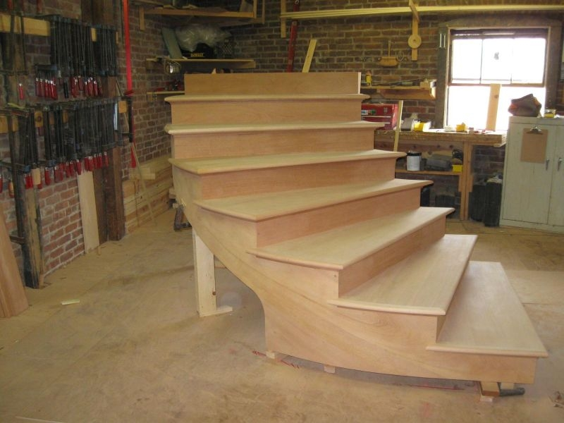 Methods And Materials For An Outdoor Curved Stair   Building A Curved Staircase   Indoor   36 Inch Diameter   Garage   Circular   Outside